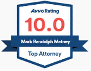 lawyer Mark Matney has a top 10 AVVO rating for 2018
